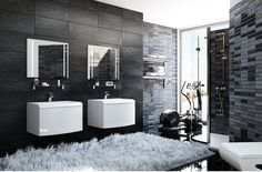 Decor & Interior | black bathroom