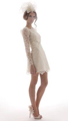 Wedding Dresses: Short Hemlines | InsideWeddings.com  Elizabeth Filmore