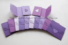 Mini cards- Small cards- Mini notecards Pretty Purple- Tri-fold envelope mini blank cards- Baby shower- Small blank card -20 Blank notecards