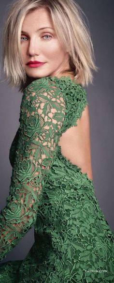 Cameron Diaz #wardrobe #lace #green