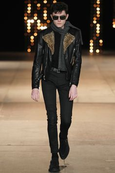 See the complete Saint Laurent Fall 2014 Menswear collection.