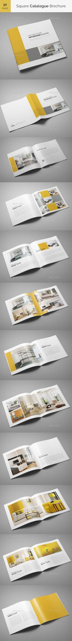 Square Catalogue Brochure Template InDesign INDD. Download here: http://graphicriver.net/item/square-catalogue-brochure/15126122?ref=ksioks
