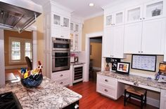 Custom Kitchen...GE Monogram appliances with Advantium speedcook oven