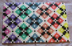 Tapestry pattern board hama perler beads by Keely Jade - Pattern: http://www.pinterest.com/pin/374291419001869451/