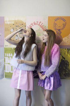 Models ALICE / Elite,KITTY / Supa Photography XANTHE HUTCHINSON Styling EMILY BEARD Hair & Make-up FREDA LIL Set Design SERENE KHAN  dressesSomewhere Nowhere  shirt Somewhere Nowh...