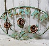 Image result for Shabby Chic Clip Art Welcome Sign