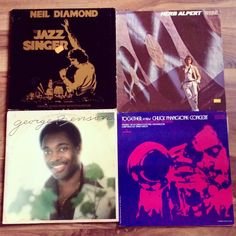 Vintage Vinyl Records lot of 4 - Jazz Collection - Herb Alpert - Neil Diamond - Chuck Mangione - George Benson by BeatificVintage on Etsy