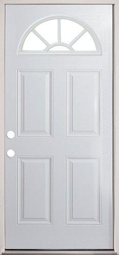 28 fan lite steel prehung door classic look at a great price