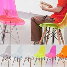 Special edition Ghost Eames DSW dowel maple chair Price was: Now its: Swivel Rocker Recliner Chair, Upholstered Swivel Chairs, Eames Chairs, Love Chair, Big Chair, Purple Dining Chairs, Neon Home Decor, Vintage Office Chair, Teal Accent Chair