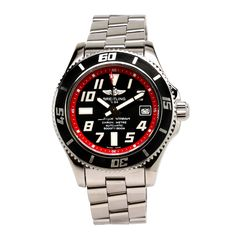 Breitling Superocean 42 Automatic Black/ Red Dial A1736402/BA31 Vintage | $2,895.00