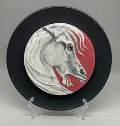 handmade & custom glazed horse head plate Foam Packaging, Franklin Mint, Draft Horses, Palomino, Horse Head, Glazed Ceramic, Earthenware, Pony, Sculptures