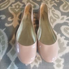 Nude Patent Leather Ballet Flats Size 9 Brand New Gorgeous blush nude patent leather flats brand new!! So chic for spring goes with absolutely everything  brand new no tags Xhilaration Shoes Flats & Loafers