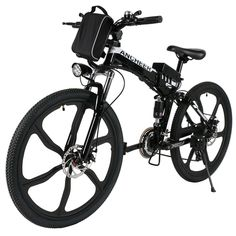 ECOTRIC New Fat Tire Folding Electric Bike Beach Snow Bicycle ebike electric moped Electric Mountain Bicycles … E Mountain Bike, Folding Mountain Bike, Mountain Bike Reviews, Full Suspension Mountain Bike, Electric Mountain Bike, Black Mountain, Electric Bike Review, Electric Moped, Best Electric Bikes