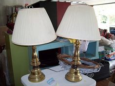 """Burlap Lamp Shades """"HOW TO"""""""