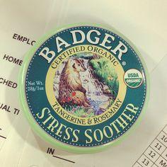 .@Mary McDonach | Got dat #badger on deck at work always #lol #stressed