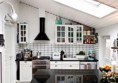 Una piccola cucina, raccolta ma completa #mansarda