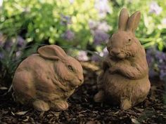 8036: Bunny Pair - Pecan (Product Detail)@ CHARLESTON GARDENS