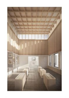 Mackintosh school of architecture, Jodie Wilson final year thesis, 'Strangely Familiar' - a museum of the everyday Paper Architecture, Architecture Graphics, School Architecture, Interior Architecture, Church Interior Design, 3d Architect, Corporate Interiors, Layout, Expositions