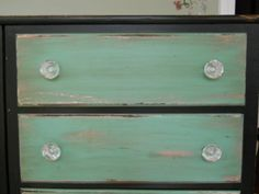 dreamingincolor: Painted Dresser  layered paint