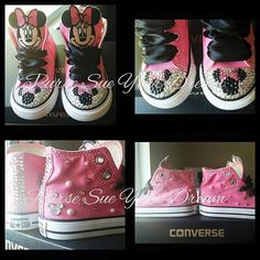 Custom Converse Shoes Minnie Mouse Themed by PurseSueYourDream