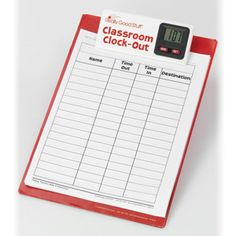 Previously, I used a plain clipboard for students to checkout. I'd have two pages of restroom checkouts. After putting the classroom clockout system in place, I have only three or four restroom checkouts a day. Go figure! Perhaps the clock makes them more accountable for their time.