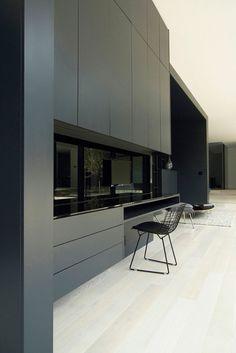*kitchen design, modern interiors, black, minimalism* - Belvedere House by Guido Costantino Design Office