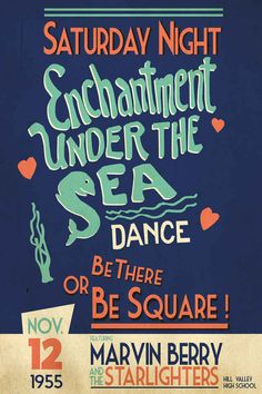"""Enchantment Under the Sea Dance"" Poster, $23 
