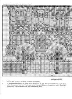 Schema punto croce Carson Mansion 04