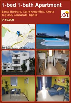 1-bed 1-bath Apartment in Santa Barbara, Calle Argentina, Costa Teguise, Lanzarote, Spain ►€110,000 #PropertyForSaleInSpain