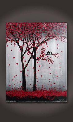 Peinture originale de texture acrylique abstraite sur par YueJinArt