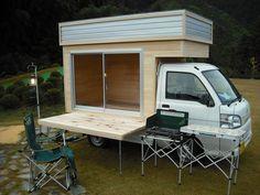 古都と伊勢とをむすぶ里 松阪・香肌 Mini Camper, Truck Camper, Camper Van, Mobile Boutique, Mobile Shop, Ute Trays, Small Coffee Shop, Van Dwelling, Van Home