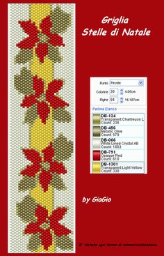 graph pattern, giogio, diy pattern, beadwork, bead peyot