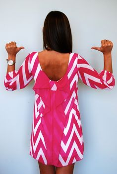 Vegas Nights in Hot Pink - back view!