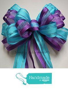 Purple Blue Wedding Pew Bow Aqua Orchid Bridal Shower Decoration Bow Peacock Wedding Bow Bridal Shower Decoration Bows Gift Wrap Bows from Simply Adornments http://www.amazon.com/dp/B01CFGHUMC/ref=hnd_sw_r_pi_awdo_l9Npxb11EEJJY #handmadeatamazon