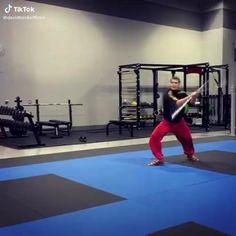 Martial Arts Wushu Slick Stick Trick Self Defense Moves, Self Defense Martial Arts, Kung Fu Martial Arts, Martial Arts Weapons, Martial Arts Workout, Martial Arts Training, Martial Arts Techniques, Self Defense Techniques, Bo Staff