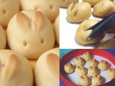 makkelijk om zelf konijntjes brood te make. Easter bunnies so cute