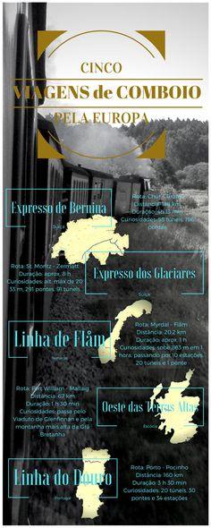 5 viagens de #comboio épicas na #Europa #Portugal #Escócia #Suíça #Noruega
