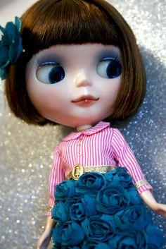 Teal rosebud dress   by lounging linda