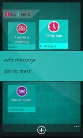1tap2send app for Windows Phone www.1tap2send.com Windows Phone, Send Me, Mobile App, Messages, Text Conversations