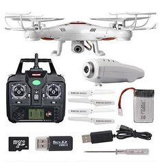 Get this 4 channel, quad-copter drone at 50% off. With 360 degree eversion, its built-in 6 Axis has stronger wind resistance and more stable, making it great for both indoor and outdoor flight.