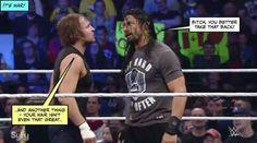 Don't insult Roman's hair!!