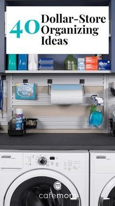 Check out these 40 thrifty solutions that make genius home-organization ideas a reality. And they're all available at the local dollar store! #homeinspiration #homeideas #organization