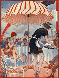 Illustration for La Vie Parisienne by Vald'Es 1920s