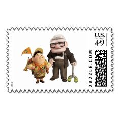 Russell and Carl from Disney Pixar UP! Postage Stamp