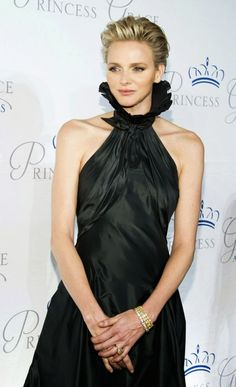 2013 Princess Grace Awards Gala in Ralph Lauren gown, with ruff collar