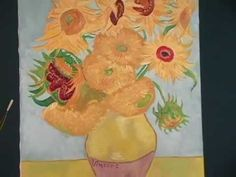 2-min video on Van Gogh's sunflower paintings