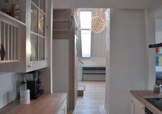 Studio Vabø - Staircase design - Møllegata  Skylight Staircase Design, Skylight, Kingston, Kitchen Cabinets, Architecture, Home Decor, Arquitetura, Decoration Home, Dormer House