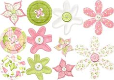 Buttons and Flowers of Clipart the Perfect Pair.