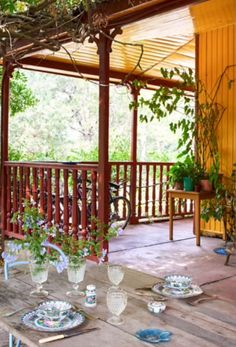 """This amazing veranda is from our feature """"Life is a Beach"""""""