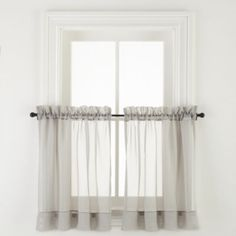 Home Expressions Lisette Rod-Pocket Sheer Window Tiers - JCPenney Sheer Valances, Curtain Length, Rod Pocket, Fabric Swatches, Liz Claiborne, Decor Styles, Simple, Ascot